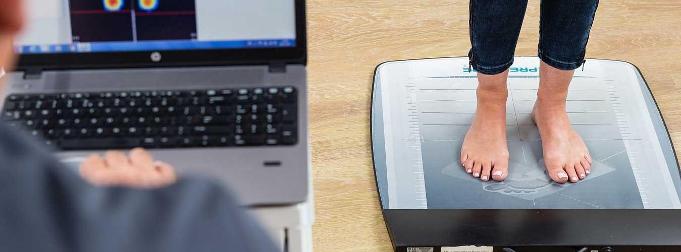digitale voetdrukmeting
